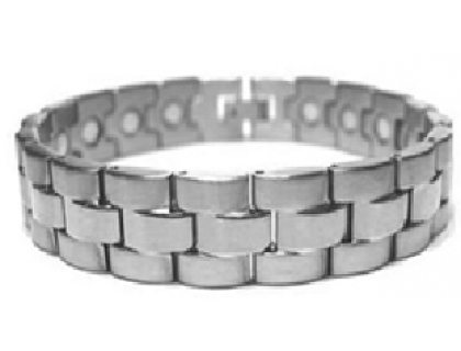 Браслет с магнитами стальной